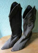 Womens Unisa Green Suede Cowboy Style Boots Size 7 Fashion/Footwear/Leather