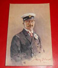 *** Künstler-AK Willy Stöwer, Kaiser Wilhelm II. auf der Nordlandreise ***
