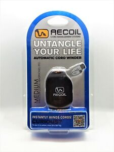 Recoil Winder Cord Management System for Earphones and Charging Cables