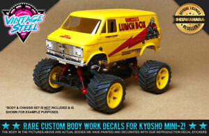 """Kyosho Mini-Z Tamiya """"LUNCHBOX"""" (Yellow) 1/24 R/C Body Decals for MB01 Buggy"""