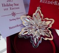 2017 *NIB* REED AND BARTON 1st EDITION HOLIDAY STAR STERLING CHRISTMAS ORNAMENT