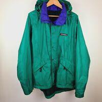 Berghaus Indra 90s Classic Aquafoil Jacket Rain Coat Vintage Retro Coat - Large