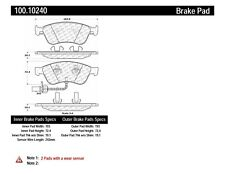 Disc Brake Pad Set-OE Formula Brake Pads with Hardware Front Centric 100.10240