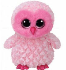 TY BEANIE BABIES BOOS TWIGGY PINK OWL PLUSH SOFT TOY NEW WITH TAGS
