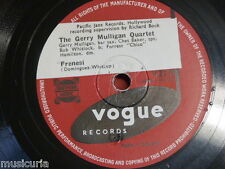 78 rpm GERRY MULLIGAN QUARTET frenesi / nights at the turntable V.2157