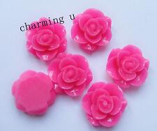 4pz abbellimenti fiore  CABOCHON in resina  20x9mm colore fuxia