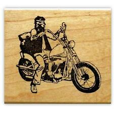 New Penny Black VA VOOM Slapstick Cling Rubber Stamp Girl Scooter Motorcycle