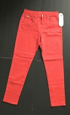 New DG2 by Diane Gilman Slim Fit Bright Red, Ankle Length Stretch Jeans, Size 10