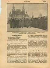 Felix Dzerzhinsky Red Square Kremlin  Moscow Tcheka USSR URSS 1923 ILLUSTRATION