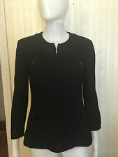 St. John Black Jacket Sweater Blazer Black Size 6