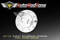 07-14 Chevy Silverado Triple Chrome Fuel Tank Gas Door Cap Cover