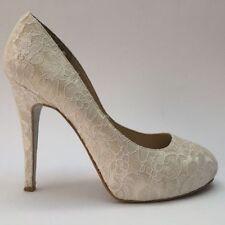 Bridal or Wedding Leather Platforms & Wedges Heels for Women