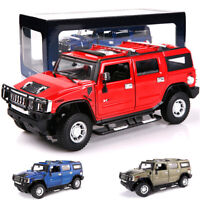 1:24 Hummer H2 Alloy Model Diecast Metal Cars Static State 4 Open Doors Toys