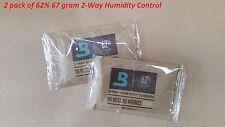 2 x Boveda 62% 67 gram 2-Way Humidity Control / Humidipak