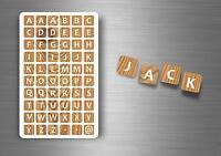 Lot de 60 autocollants sticker scrapbook scrapbooking alphabet lettres A-Z DIY E