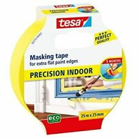 Tesa Precision - Yellow Masking Tape for Indoor Use  25m x 25mm for perfect edge