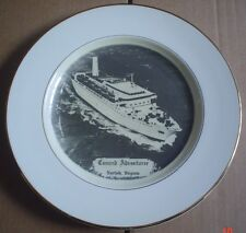 Fred Babbitt USA Collectors Ship Plate CUNARD ADVENTURER NORFOLK VIRGINIA