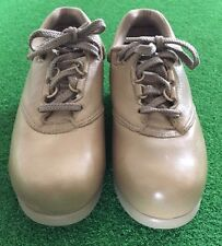 NEW ! Womens Size 7M, Carolina Comfort Leather Work / Casual Shoes (Steel Toe)