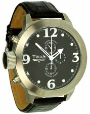 Trias Uhren XXL 53mm Quarz-Chronograph Jumbo mit Stoppfunktion Herrenuhr