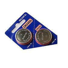 2 x Super Fresh New Sony CR2450 ECR 2450 3v LITHIUM Coin Cell Battery Exp. 2027