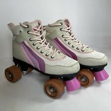 SFR Rio Roller Pink & Grey Sports Retro Quad Roller Skates Boots UK 6 EUR 40