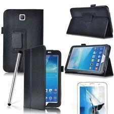 PROTECTORES Funda de cuero FLIP Soporte para Samsung Galaxy Tab 3v 7 PULGADAS