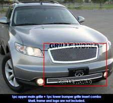 Fits 2003-2005 Infiniti FX35/FX45 Stainless Mesh Grille Combo