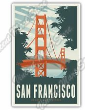 "San Francisco Golden Gate Bridge California Car Bumper Vinyl Sticker Decal 3""X5"""