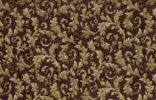 Maroon Wallpaper Gold Metallic Leaves Textured UK4333 Double Rolls