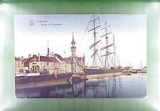 CPA Belgium 1916 Ostende Schiffe Ship Boat Sail Marine Segeln Żaglowiec s218