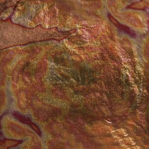 FOGLIA ORO / ROSSO DECO METAL RAYHER 5 FOGLI CM.14X14