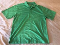 Mens LARGE Beverly Hills Polo Club GREEN golf JERSEY polo shirt short sleeve