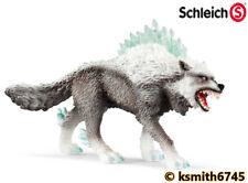 Schleich eldrador creature Snow Wolf in plastica giocattolo Spaventoso Cane Animale * NUOVO 💥