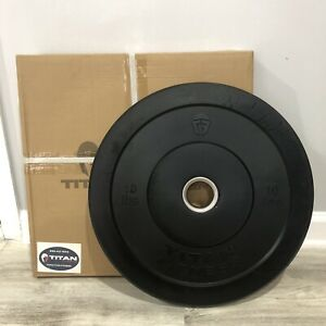 New Titan Fitness 10 LB Black Bumper Plates Olympic Weight Pair Fast Ship Rogue
