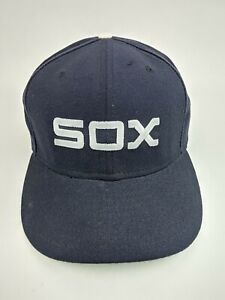 "Vintage Chicago White Sox Baseball Cap Wool Pro Model 7 3/4"" New Era Cooperstown"