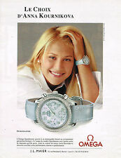 PUBLICITE ADVERTISING 104  2002  OMEGA  montre SPEEDMASTER d' ANNA KOURNIKOVA