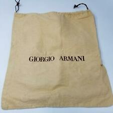 Georgio Armani Womens Dust Bag Drawstring Tan Beige for Handbag Purse 14""
