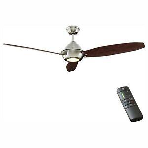 "Home Decorators 60"" Ceiling Fan Aero Breeze Light Kit Remote Control In/Outdoor"