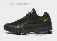 """Nike Air Max 95 Ultra SE """"Black Orange"""" Men's Trainers Limited Stock All Sizes"""