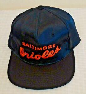 Vintage 1990s Twins Satin ORIOLES Baseball Hat Cap New MLB Snapback Rare Ripken