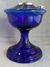 ALADDIN LAMP PART # VJ007N COBALT BLUE ALEXANDRIA FONT w/ NICKEL HARDWARE