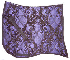 "NEW!  SWALLOW TAIL  ""PURPLE ON BLACK""  BAROQUE DRESSAGE SADDLE PAD"
