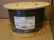 CCT 1000' Black CAT6 Shield Plenum  4 pair 23avg Enhanced 550 MHZ Type CMP Cable
