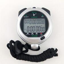 Handheld Waterproof Large 2 row display 50 dual split Swimming Stopwatch Timer