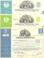 American Standard Inc. > Set of 3 share stock certificates