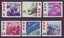 Postfrische Briefmarken der DDR (1960-1970) mit Raumfahrts-Motiv