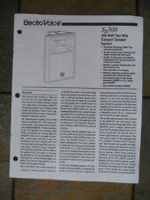 Electro-Voice (EV) Model Sx300 1997 Owner's Manual, 8-Pages, Original Copy