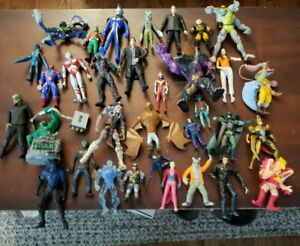 Lot Of 35 Assorted Action Figures Marvel DC Ultraman Plus