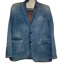 Mondo Jeans Men's Pale Blue Fashionable Blazer Jacket Size 3XL Fit Small
