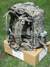Loaded US ARMY ACU Ruck Sack Back Pack Frame Belt Straps + 8 Utility Admin Pouch